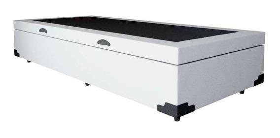 Base Para Cama Box Solteiro Premium Com Baú Branco
