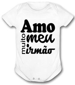 Body Com Frases De Irmaos Roupas De Bebê No Mercado Livre Brasil