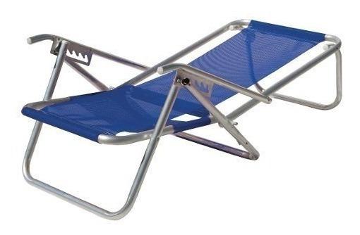 Cadeira De Praia 5 Posições C/ Apoio Azul Royal-botafogo