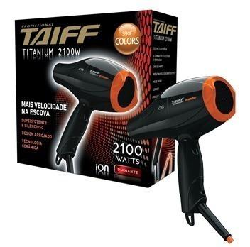 Secador De Cabelo Titanium Colors Laranja Taiff 2100w 127v