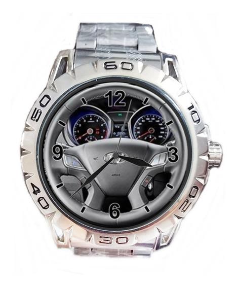 Relógio Pulso Personalizado Foto Volante Painel Hb20 Barato