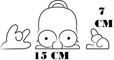 Adesivo Homer Simpson Decal The Simpsons Com Frete Grátis