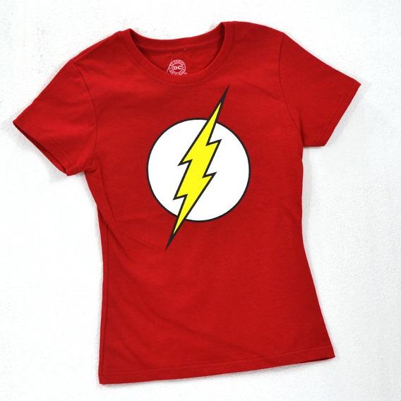 Flash Dc Comics Playera De Dama 100% Original