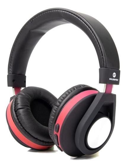 Headphone Bluetooth Vermelho E Conexão P2 Som Profundo