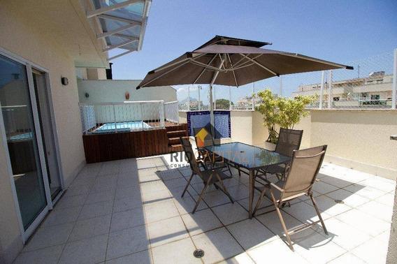 Cobertura Com 3 Quartos Para Alugar, 180 M² Por R$ 4.200/mês - Barra Da Tijuca - Rio De Janeiro/rj - Co0158