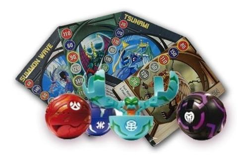 Bakugan Esferas Empaque De 4 Figuras 4 Con Cartas Juego