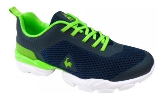 Zapatillas Le Coq Sportif Foild Jr Azul-verde Envío Pais