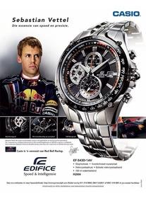 Relógio Casio Edifice Ef-543d Sebastian Vettel Pulso 19cm
