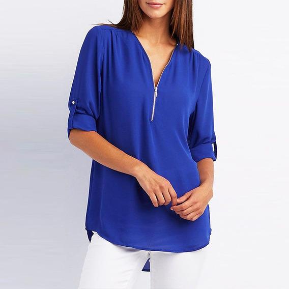 Tamanhos Extra T-shirt Mulheres T-shirt V Neck Blusa Casual