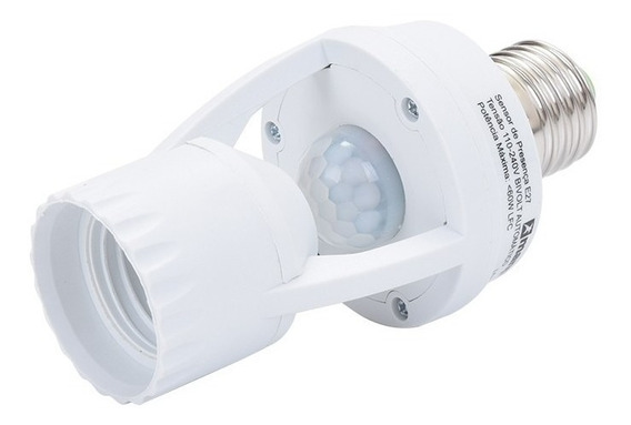 Kit 10 Sensor Presença Fotocélula Para Lâmpada Soquete E27