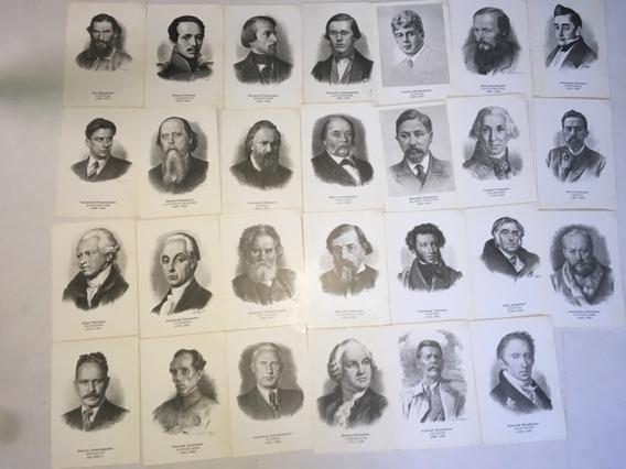 Postales Personajes Historia Rusa Lote De 27 Impresas Rusia