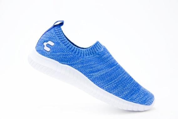 Tenis Comodos Dama Charly 1049066 Azul 100% Originales!!