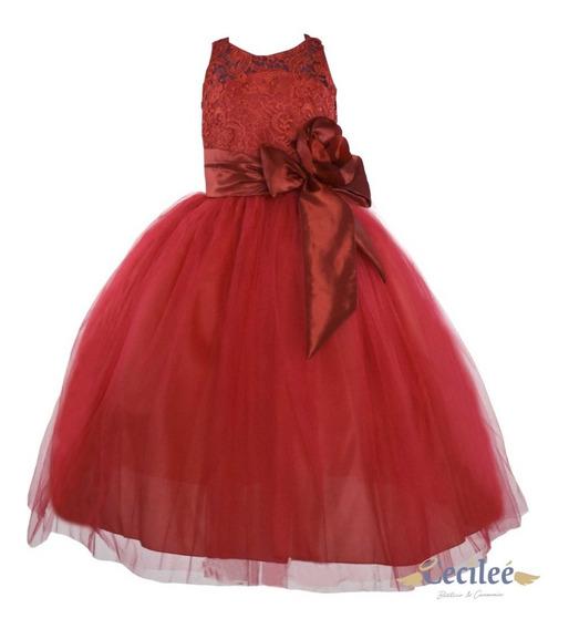 Hermoso Vestido Ceremonia Fiesta Niña Elegante 011