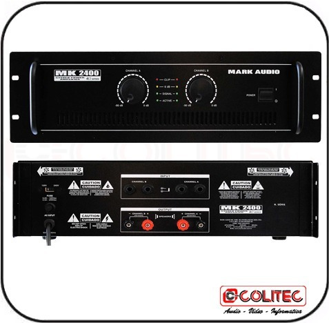 Amplificador Potencia Mark Audio Mk 2400 400w Rms
