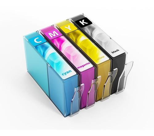 Imagen 1 de 3 de Pack 4 Cartuchos Compatibles Hp 670 Xl - Alto Rendimiento.