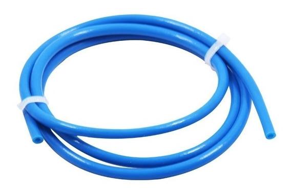 1 Mt Tubo Teflon Ptfe 2x4mm Cor Azul Para Filamento 1,75mm