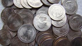 20 (vinte) Moedas De 1 Quarter Dólares Americanos Aleatórias