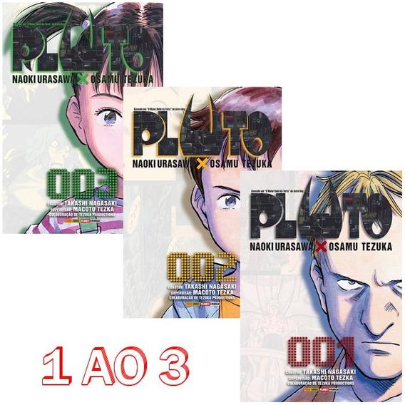 Pluto 1 Ao 3! Mangá Panini! Novo E Lacrado!