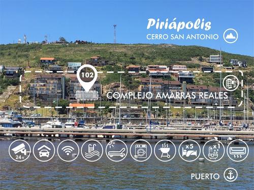 Imagen 1 de 14 de Apartamento En Piriápolis Amarras Reales Frente Al Mar