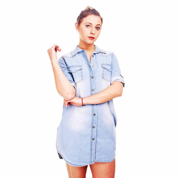 Customs Ba Camisola Camisa Vestidos De Jean Mujer Camisas Ca