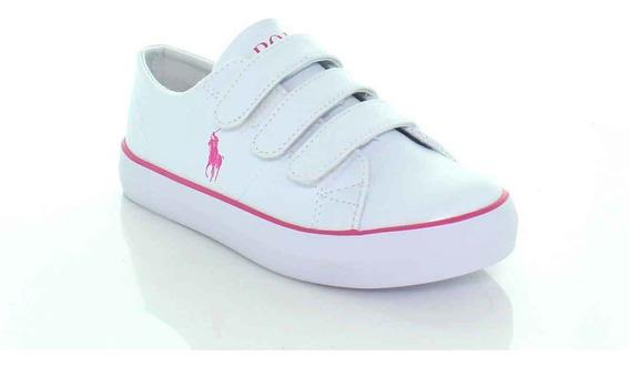 Sneakers Niña, Calzado De Niña, Blanco/rosa, Polo,11072f9c