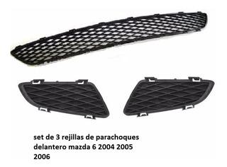 Set De Rejilla Parachoques Delantero Mazda 6 2004 2005 2006