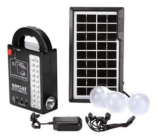 Kit Solar Portatil Panel + 3 Lamparas Led Bateria Carga Usb