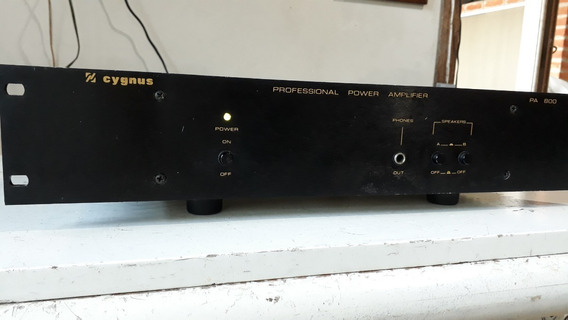 Cygnus Pa 800 Stereo Power Amplifier Professional Tudo Ok