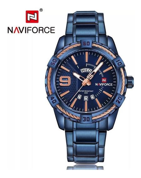 Relógio Pulso De Luxo Importado Naviforce 9117 - Pronta Entrega