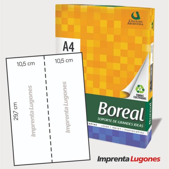 Papel A4 Troquelado - Hojas Micropuntilladas Medio Vertical