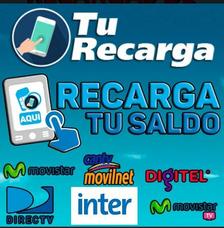 Recargas Movilnet / Movistar / Digitel / 24 Horas