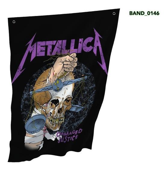 Bandeira Metallica Banda 150x105cm
