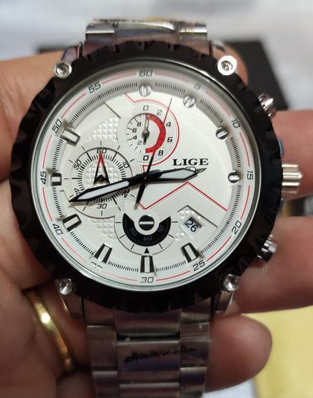 Relógio Masculino Lige Branco
