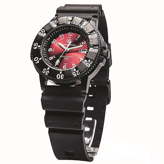 Smith & Wesson Diver Watch W/red Dial - Swiss Tritium