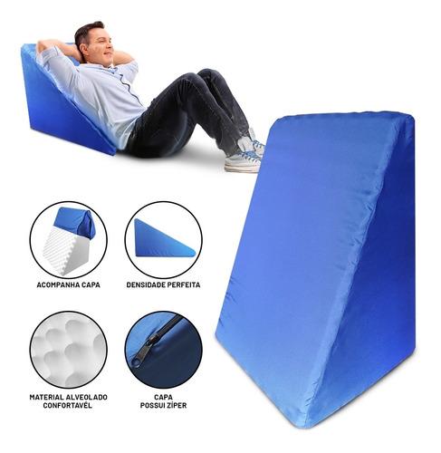 Travesseiro Almofada Rampa Anti Varizes Triangular Postura