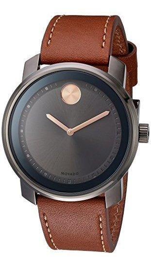 Reloj De Hombre De Cuero Y Cuarzo Suizo 3600378 Swiss Quartz
