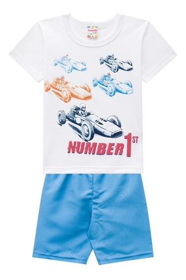 Conjunto Infantil Camiseta E Bermuda Carrinhos - Brandili
