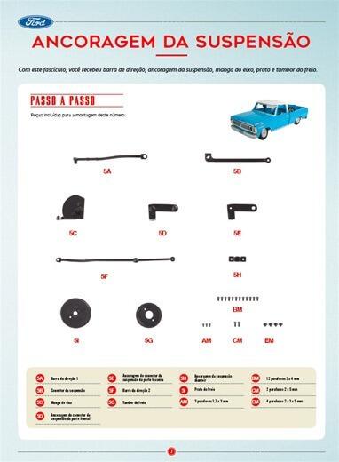 Picape Ford F-100: Fascículo + Peças - Ed. 05 - Escala 1/8