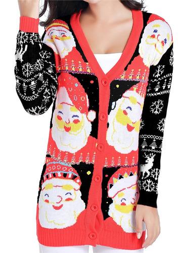 Mujeres Suéter De Navidad, V28 Girls Ladies Ugly Fun