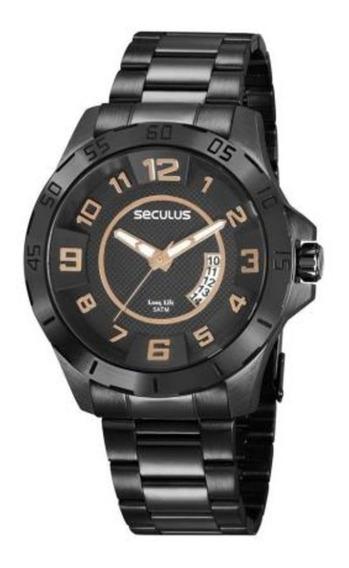 Relógio Seculus Masculino 20743gpsvpa2 Preto