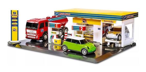 Para Welly Posto Combustivel Escala 1:32 Caminhão E Carros