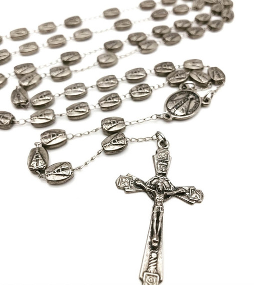 Terço De Nossa Senhora Aparecida Com Medalhas Em Metal