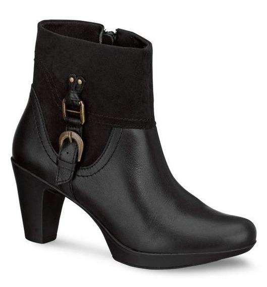 Zapatos Botines Negros Andrea De Piel De Ternera Tacón 7.5