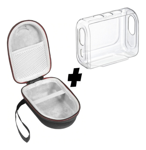 Imagem 1 de 9 de Capa Compatível C/ Jbl Go 3 + Case Proteção Alça Resistente