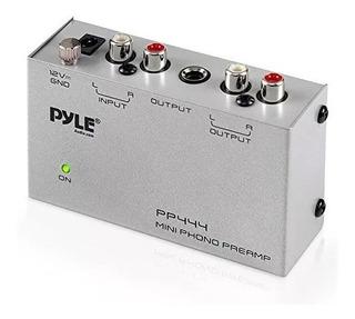 Pyle Phono Tocadiscos Preamplificador Mini Electronic Audio