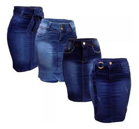 Saia Jeans Kit Com 4