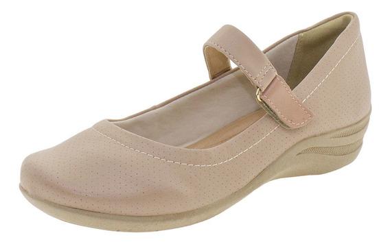 Sapato Feminino Salto Baixo Comfortflex - 1755302 Salmão