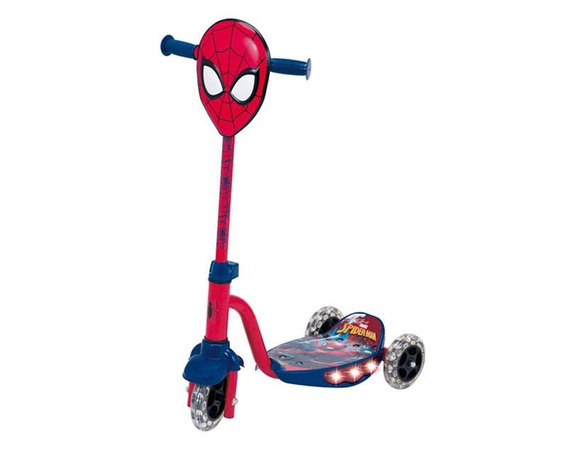 Scooter Flying Wheels Spiderman Con Luz Pm-5375863