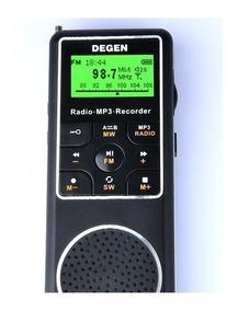 Rádio Receptor Gravador Degen De1127 Mp3 Player Am Fm Sw