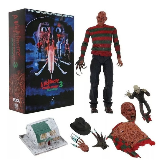"7/"" Scale Figure Ultimate Dream Warriors Freddy NECA Nightmare on Elm Street"